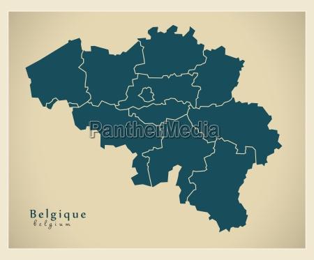 moderne landkarte belgien be