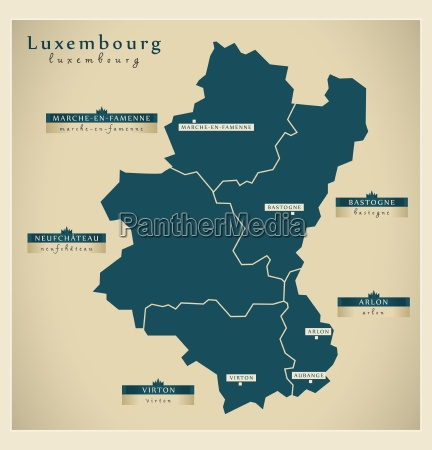 moderne landkarte luxembourg be
