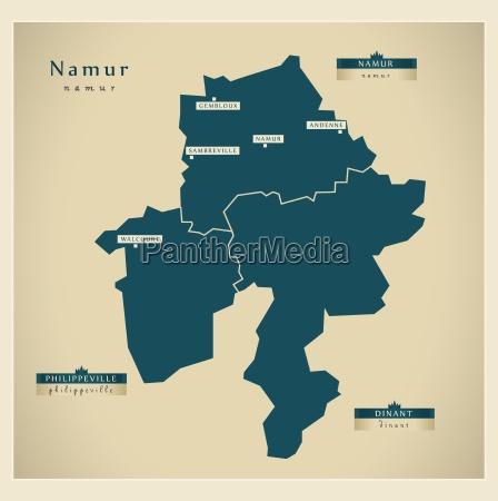 moderne landkarte namur be