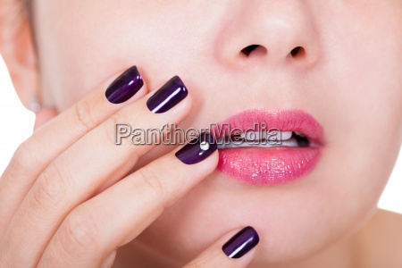 beautiful nails and lips
