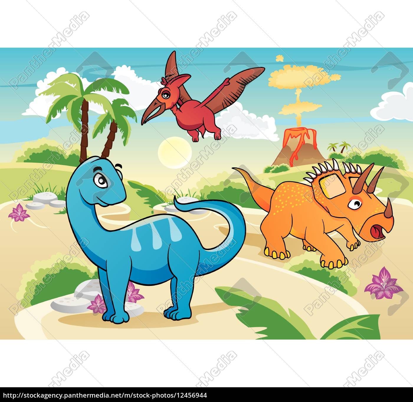 Cartoon dinosaurier lizenzfreies foto