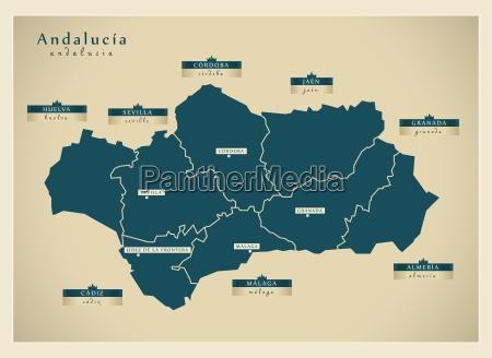 moderne landkarte andalusia es