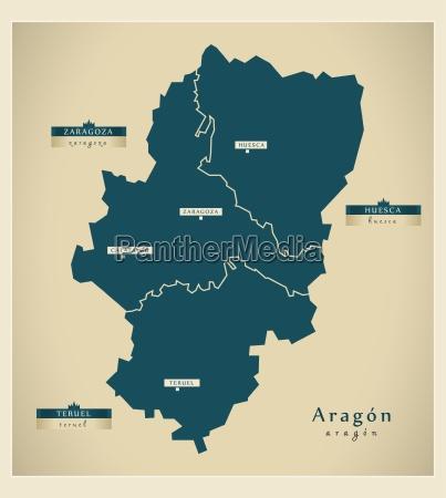 moderne landkarte aragon es
