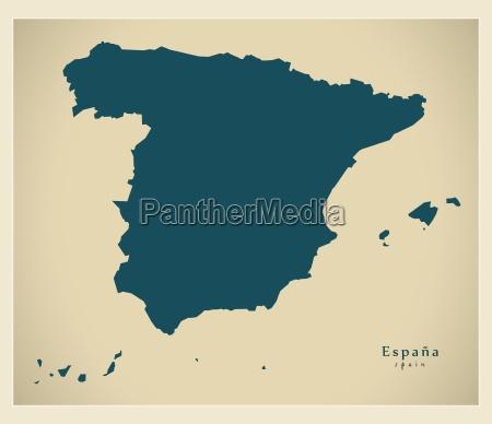 moderne landkarte spanien es