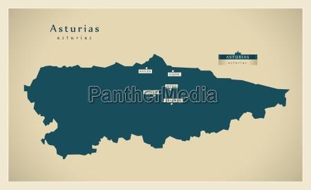moderne landkarte asturias es