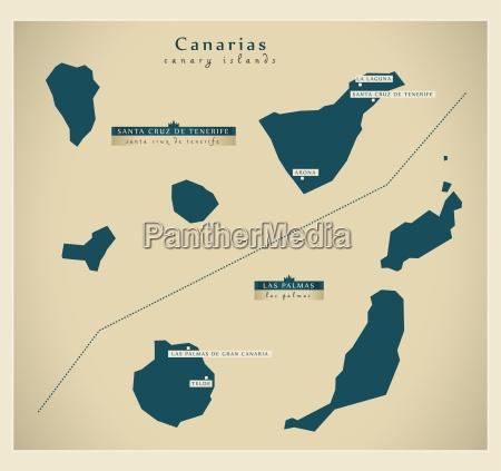moderne landkarte canarias es