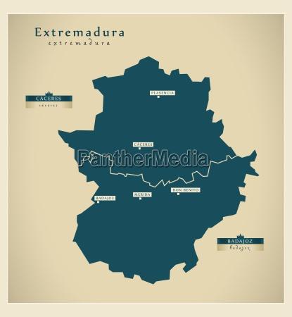 moderne landkarte extremadura es