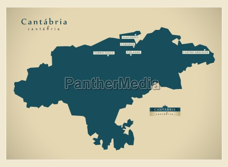 moderne landkarte cantabria es