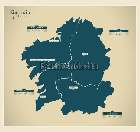 moderne landkarte galicia es