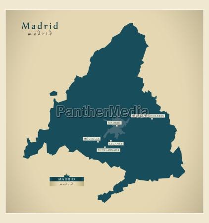 moderne landkarte madrid es