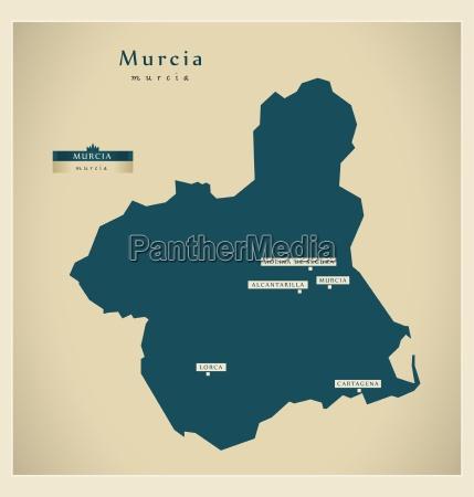 moderne landkarte murcia es