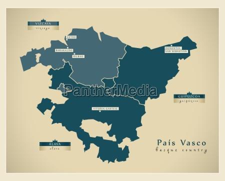 moderne landkarte pais vasco es