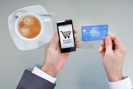 businessperson doing online shopping