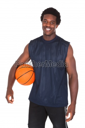 portrait of african basketball player