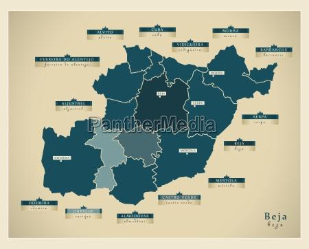 moderne landkarte beja pt