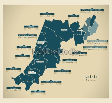 moderne landkarte leiria pt