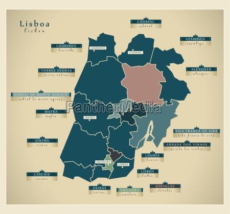 moderne landkarte lisboa pt