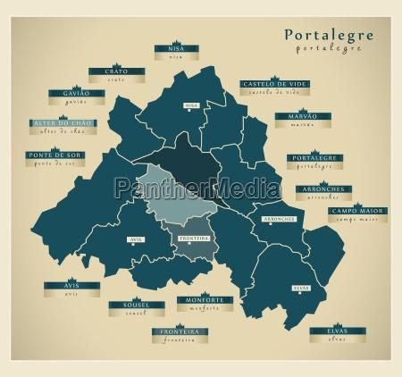 moderne landkarte portalegre pt