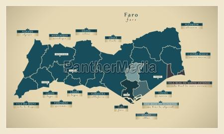 moderne landkarte faro pt