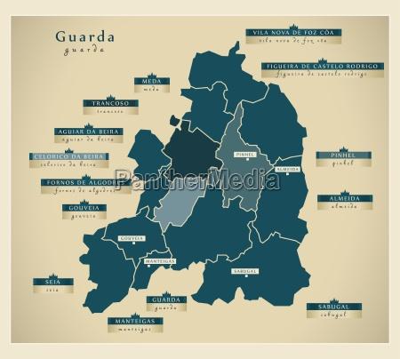 moderne landkarte guarda pt