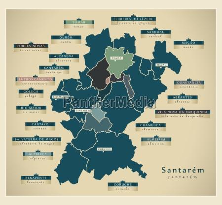 moderne landkarte santarem pt