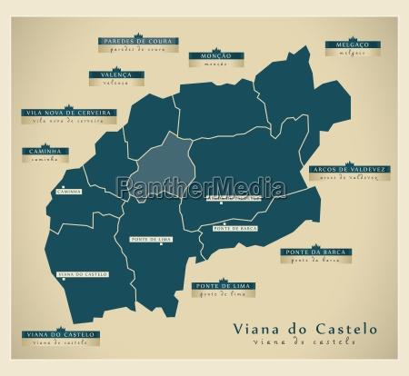 moderne landkarte viana do castelo