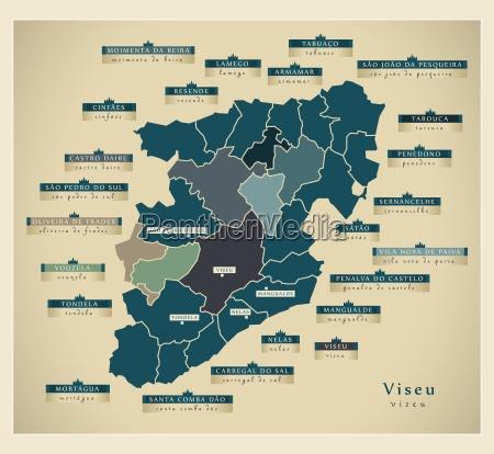 moderne landkarte viseu pt