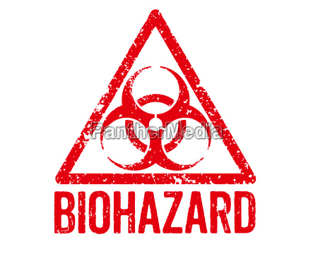 roter stempel biohazard