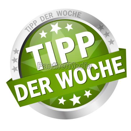 button with banner tipp der woche