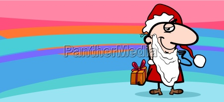 santa claus greeting card cartoon