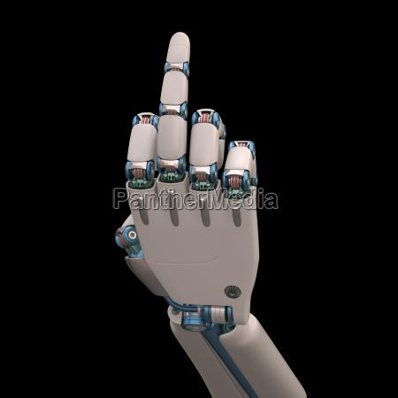 obscene gesture robot