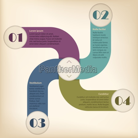 inforgraphic design with options and gradation