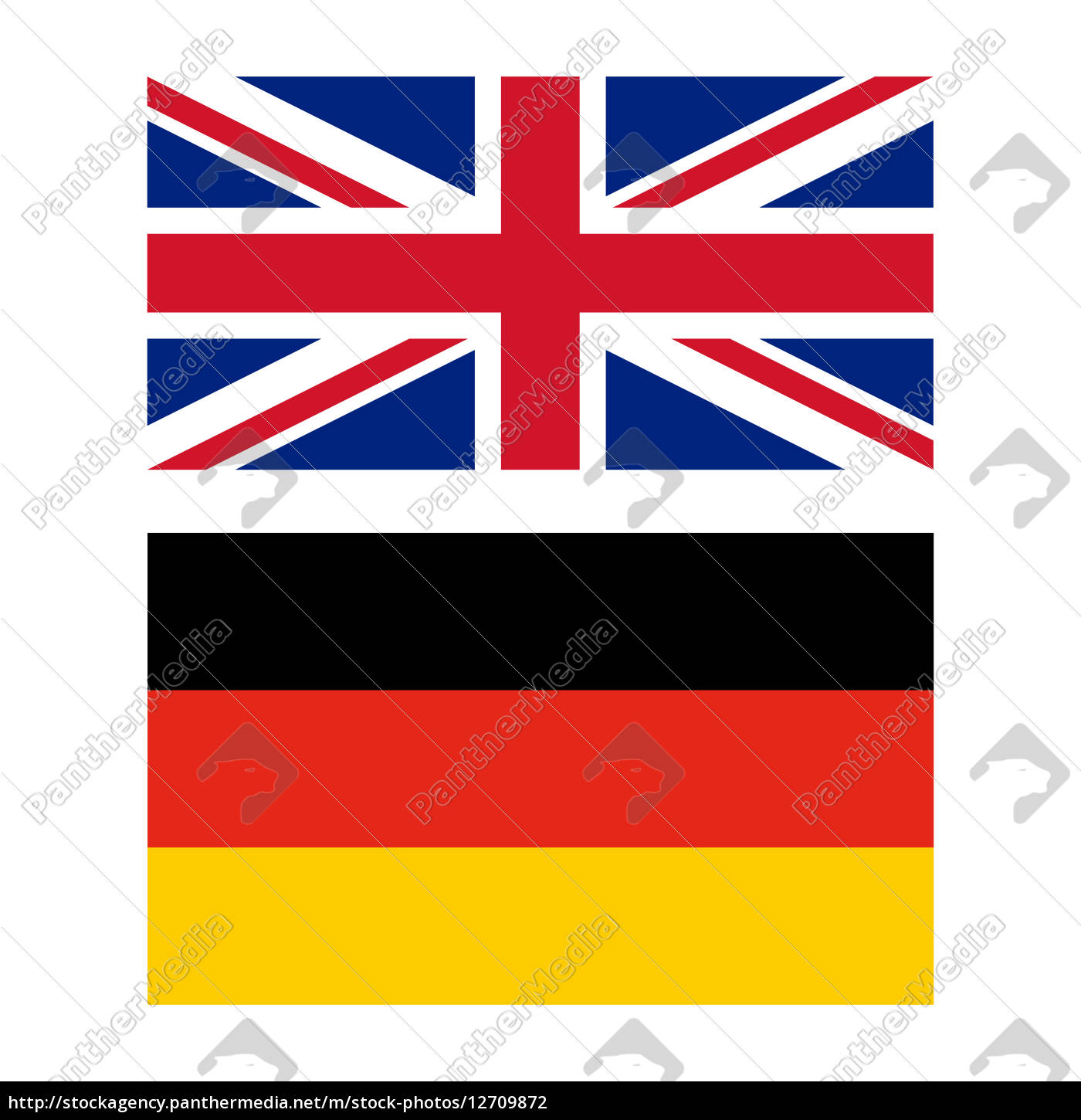 flagge von gro britannien und deutschland lizenzfreies. Black Bedroom Furniture Sets. Home Design Ideas