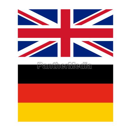 flagge von gro britannien und deutschland lizenzfreies foto 12709872 bildagentur panthermedia. Black Bedroom Furniture Sets. Home Design Ideas