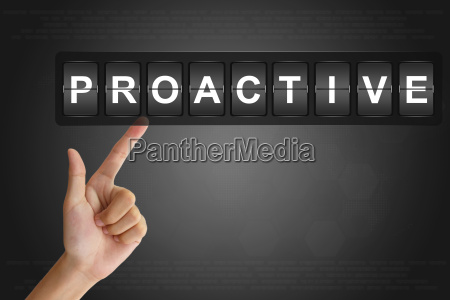 hand pushing proactive on flip board
