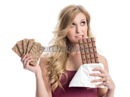 schokolade oder knaeckebrot