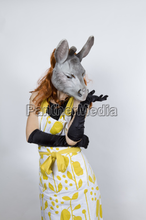 donkey housewife in evening dress