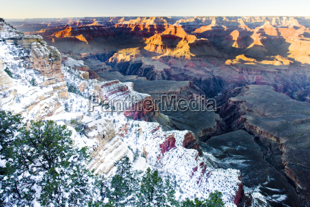 grand canyon national park in winter