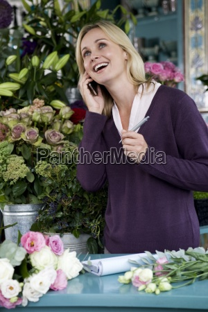 woman telephone phone laugh laughs laughing