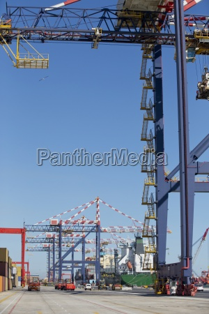 cranes at commercial dock