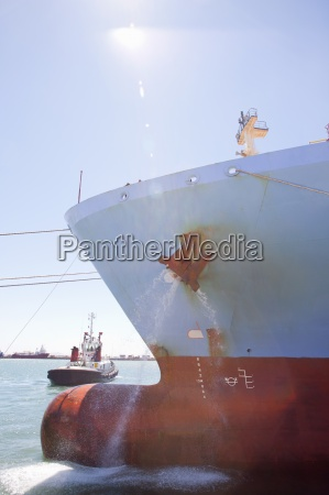 anchor on container ship