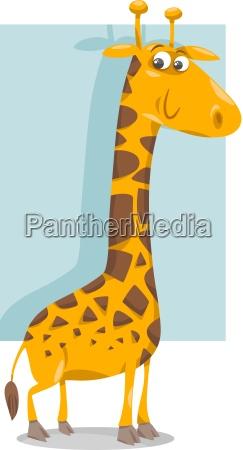 cute giraffe cartoon illustration