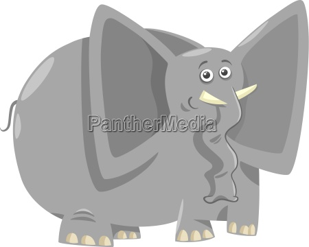 funny elephants cartoon illustration