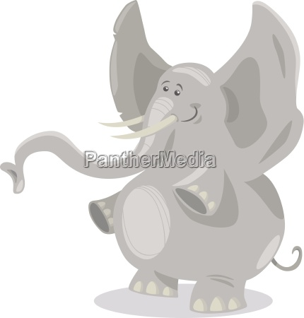 cute elephants cartoon illustration
