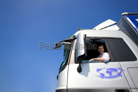 truck driver driving semi truck