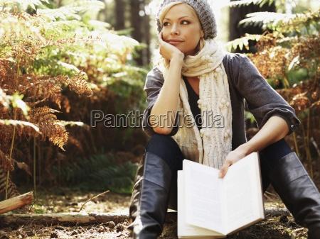 woman fashion colour relaxation female park