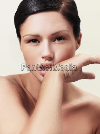 woman macro close up macro admission