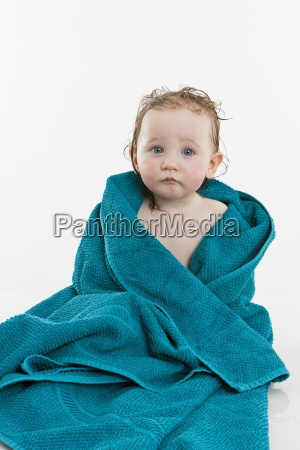 blue colour female portrait baby series