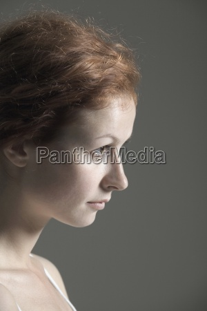 woman colour portrait european caucasian series