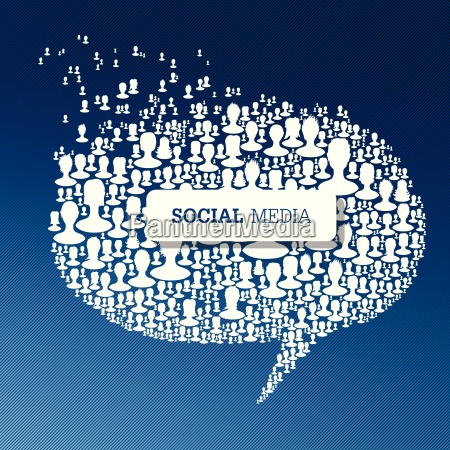 social media bubble speech concept vector
